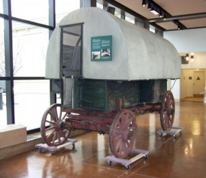 A 1902 Basque sheepherder's wagon at the Nevada State Museum. Photo: Cheryl Mathwig, Courtesty of AroundCarson.com