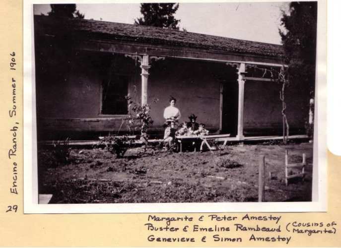 Amestoy family members at the ranch in 1906. Photo: Courtesy of Los Encinos State Park