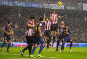 Athletic Bilbao faces off against Barcelona on May 25, 2012.