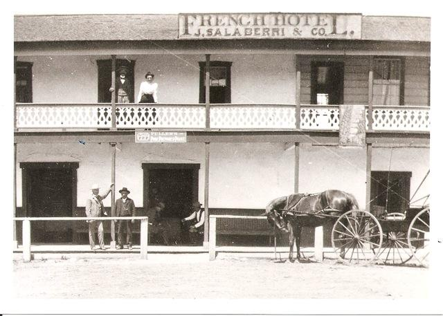 Domingo Oyharzabal and Juan Salaberri ran the French Hotel in Southern California in the late 1800s. Courtesy of Carmen Oyharzabal.