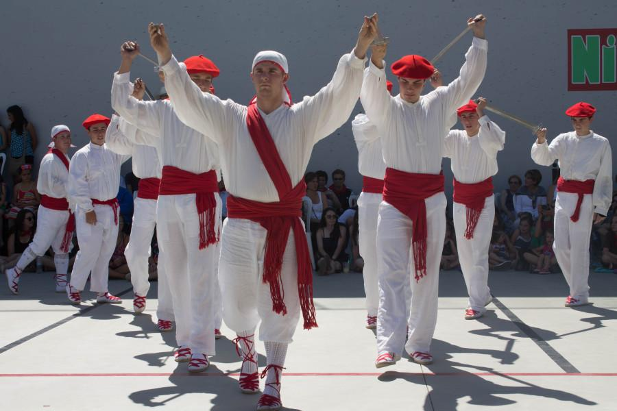Bakersfield's dancers perform the  ezpata dantza.