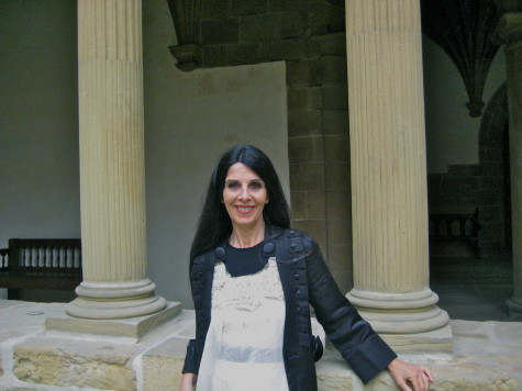 Costume designer Ane Albisu at the San Telmo Museum