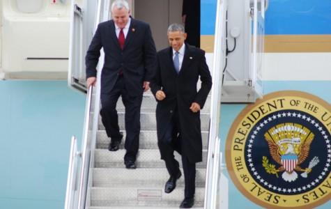 President Obama and Boise Mayor Dave Bieter