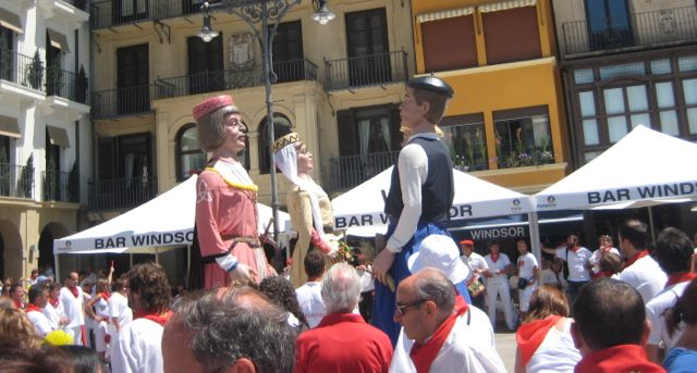 Gigantes are popular in Basque Country festivals