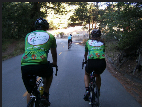 Riders in the Oct. 2014 Txirrindulari bike ride in the Bay Area.