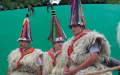 The Joaldunak of Ituren present their tradition at the Smithsonian Folklife Festival.