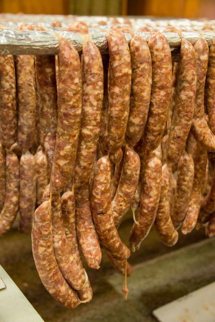 Sausage making at Chino Basque Club