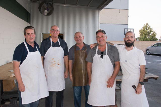 Barbecue crew at Chino Basque Club