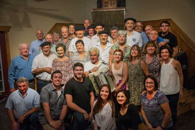 Local Basques with ties to Banka, the town of the Menditarrak singers.