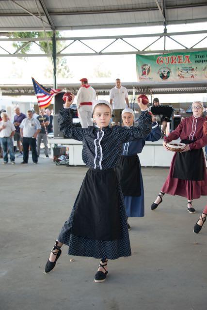Chino Basque Club dancers at Chino Basque Festival 2016.