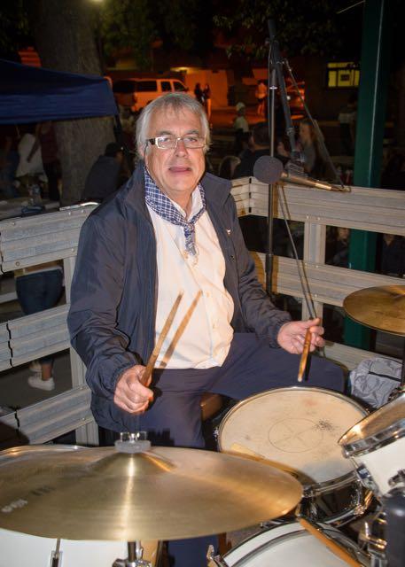 Drummer Beñat Chaubadindeguy