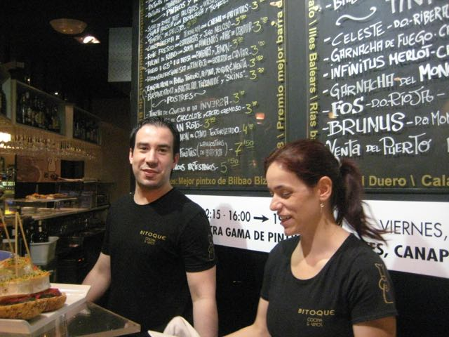 The Bitoque in Bilbao has won prizes for its pintxos.
