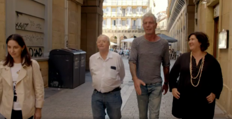 Anthony Bourdain in San Sebastian, with Elena and Juan Mari Arzak and Gabriella Rinelli