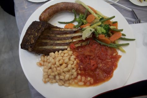 Rack of lamb lunch at the Basque Cultural Center.