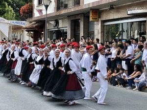 The California dancers traveled to the Basque Country to perform in the Baztan parade.