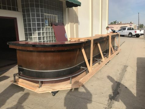 Outside Noriegas, the bar is prepared for moving to the Kern County Museum.