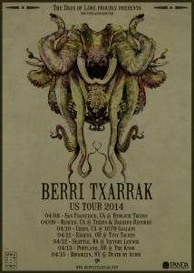 Berri Txarrak USA Tour 2014 poster