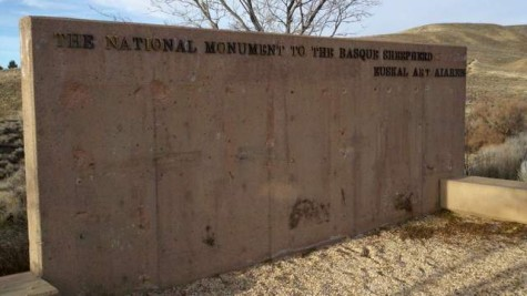 Wall at the Basque Sheepherder Monument after plaques were stolen in 2001. Photo: Andy Mink/Washoe County Regional Parks