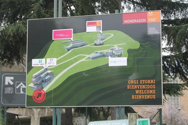 The entrance to the Mondragon Cooperative. Photo by Mattin Larrea Albisu