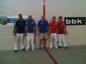Bakersfield (in blue) won the NABO Division B paleta Goma final against San Francisco. Photo: Euskal Kazeta.