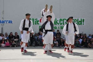 Bakersfield and Chino boys join for the traditional dances. Photo by Linda Iriart