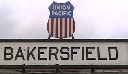The train depot in old downtown Bakersfield is a throwback to another era.
