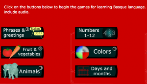 New ineractive games to learn Euskera