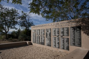 The new plaques with herders' names are made from steel. Photo: Jillian Stenzel
