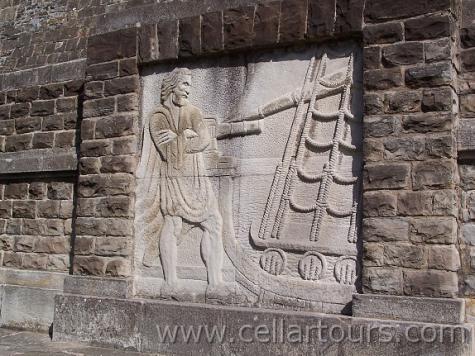 Sculpture of Basque navigator Juan Elcano, first to circumnavigate the globe. Photo: CellarTours.