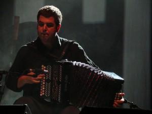 Junkera with his diatonic accordion.