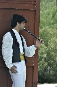 Christian Jauregui plays the txistu.