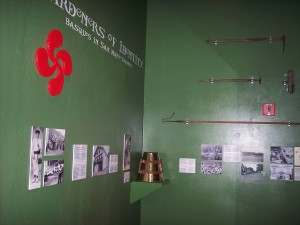 A portion of the new Basque exhibit. Photo: Courtesy of San Mateo County History Museum.