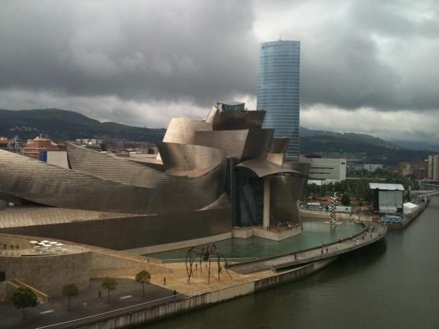 The Guggenheim Museum seen from the Puente de la Salve.