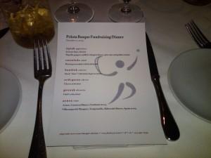 Fundraiser menu. Photo: Xabier Berrueta