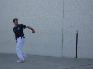 Fernando Goñi, reigning doubles handball champion