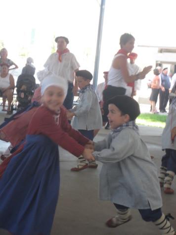 Two children show their Basque dancing skills