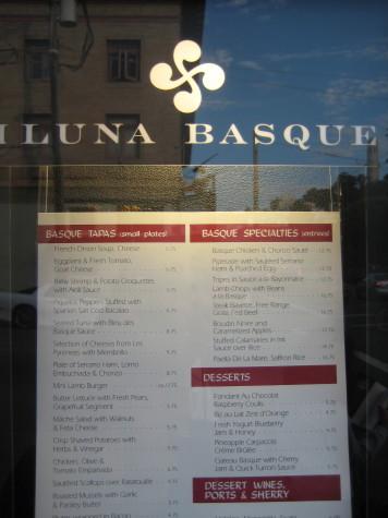 The lauburu is prominent at Iluna Basque