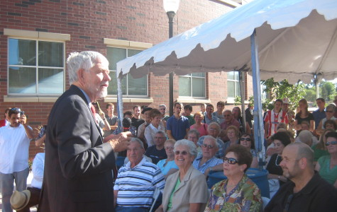 William Douglass speaks at dedication of Center for Basque Studies