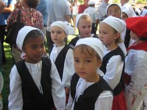 Little Reno dancers lead the dance procession into Wingfield Park in downtown Reno.