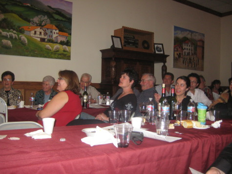 The audience sang along with Pantxoa eta Peio