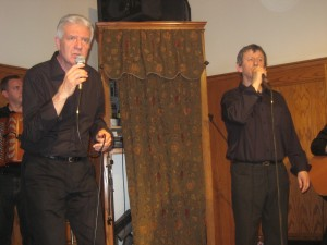 The duo of Pantxoa eta Peio sang at the Chino Basque Club March 26, 2010.