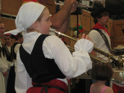 This young trumpeter joined the klika