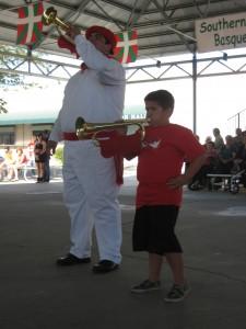 Martin Almirantearena junior and senior play bugles in the Klika.
