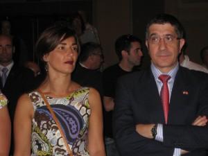 Lehendakari Patxi Lopez and his wife Begoña