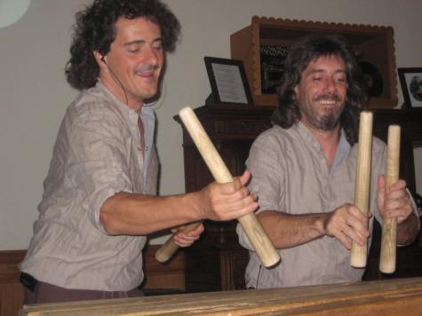 Txalaparta duo Harkaitz Martinez de San Vicente and Mikel Ugarte