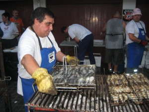Grilled anchovies are on the menu for the port's festival.