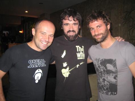Galder Izagirre, Gorka Urbizu and David Gonzalez of Berri Txarrak in Venice