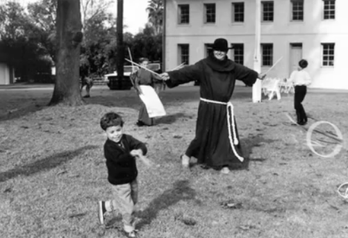 This Franciscan monk is part of the annaul re-enactments staged at Los Encinos State Park. Photo: Courtesy of A Travel Guide to Basque America.