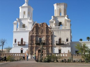 Mission at San Xavier del Boc near Tucson was protected by Basque soldiers. Photo: Steve Bass