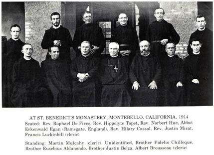 At St. Benedict's Monastery, Montebello, California, 1914
